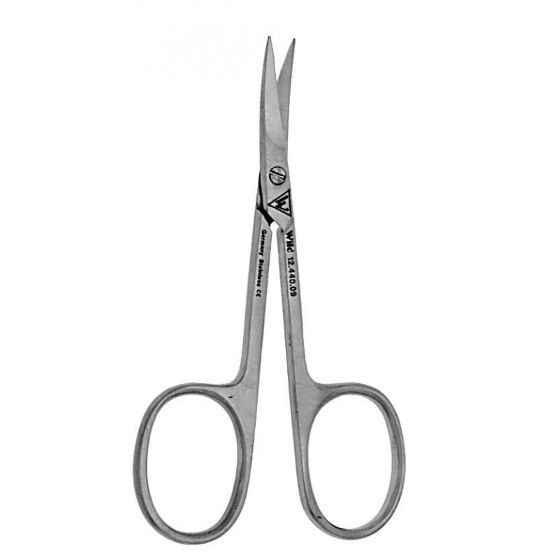 Nůžky na kůžičku, zahnuté, délka 90 mm