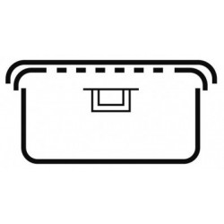 Sterilizační kontejner 1/2 s bezpečnostním uzávěrem