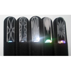 Blažek GLASS pilník na manikúru skleněný s broušeným úchytem bílý