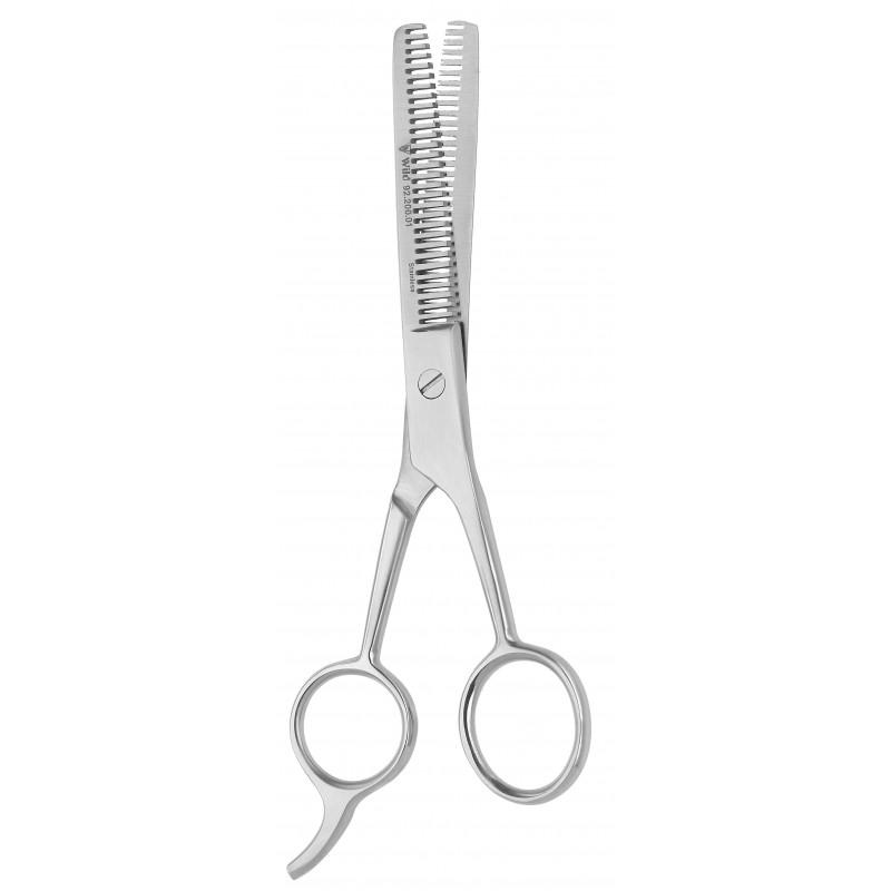 Kadeřnické nůžky efilační oboustranné