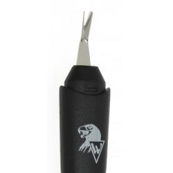 HEIKO WILD Manikúrní vidlička na kůžičky ergonomická černá nůž z nerezové oceli