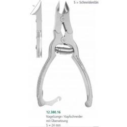 Kleště na nehty s převodem a tvarovanou řezací hlavou